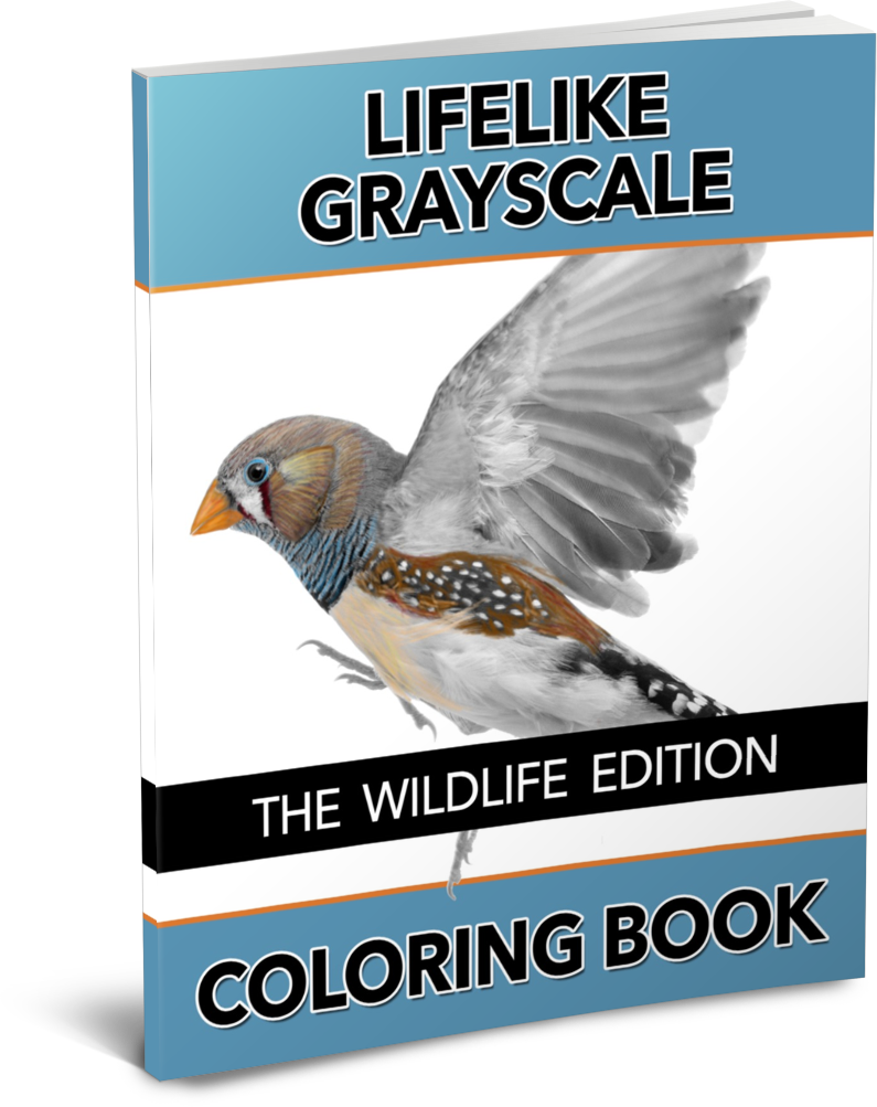 The Lifelike Wildlife Grayscale Coloring Book